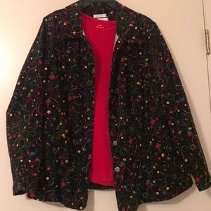 Corduroy jacket and top